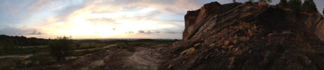Sunset at our first Outcrop in Brunei.
